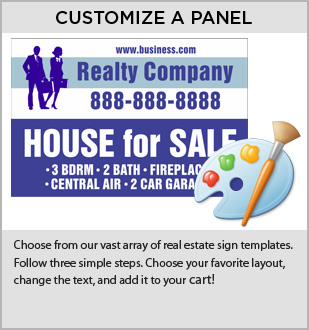 Custom Real Estate Signs | Custom Panels for Real Estate Agents