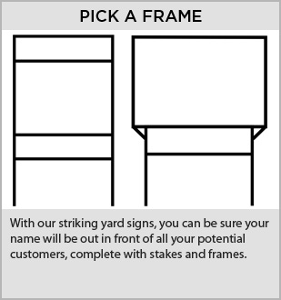 Real Estate Signs Frames and Stakes