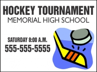 Hockey 01- Tournament Yard Sign Design