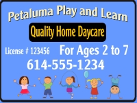 Daycare-03 Petaluma Yard Sign Template