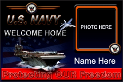 Military|4'x6'-04 US Navy Welcome Home Banner