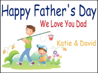Fathers Day 3 Yard Sign Template