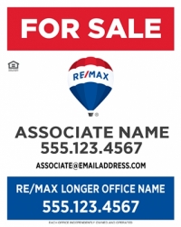 REMAX® Vertical Standard Panel W/Longer Office Name