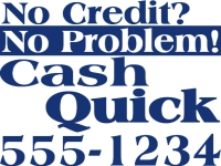 Financial 02-Cash QuickYard Sign Template