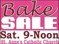 Other Events 03- Church Bake Sale Yard Sign Template