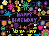 Happy Birthday Flowery Fun Design