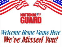 Military 06- Welcome Home National Guard Yard Sign