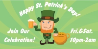 St. Patrick's Day Custom Banner Template 04
