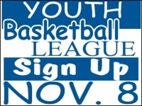 Basketball 05- Youth League Yard Sign Template