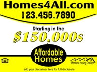 Affordable Homes Real Estate Sign Template