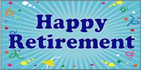 Retirement 01- Confetti Custom Banner