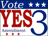Political 08-Vote Yes 3rd AMD Yard Sign Template