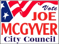 Political 09- Vote Joe McGyver Yard Sign Template