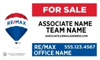 REMAX® Real Estate Horizontal 18h X 30w Office Prominent Panel w/Team Name | Frame Included