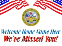 Military 02- Welcome Home Army Yard Sign Template