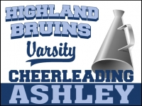 Cheerleading 05- Bruins Varsity Yard Sign