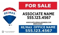 REMAX® Real Estate Horizontal 18h X 30w Standard Main Panel w/License # | Frame Included