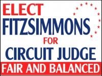 Political 05- Circuit Judge Yard Sign Template