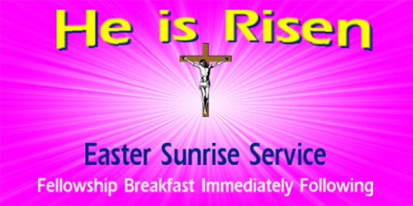 Easter He is Risen Banner