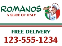 Catering/Food-10 Romanos Yard Sign Templates