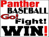 Baseball 05- Panther Yard Sign