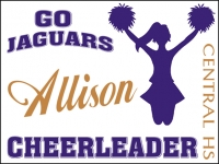 Cheerleading 03- Jaguars Allison Yard Sign