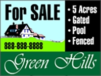 House For Sale Panel Real Estate Sign Design Template