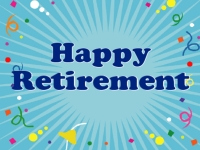 Retirement 01- Confetti Yard Sign Template