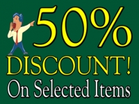 Business-04 50% off Selected Yard Sign