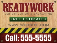 Tradesman 02-ReadyWork Yard Sign Template