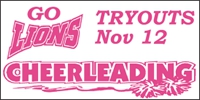 Cheerleading-03 Tryouts Sign-Ups Banner Template