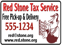 Financial 04-Red Stone Tax Service /yard Sign