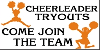 Cheerleading-04 Tryouts Custom Banner Template