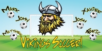 Soccer-04 Viking Team Name Banner Template