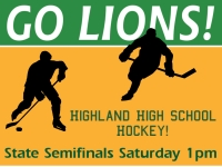 Hockey 05- Go Lions Yard Sign