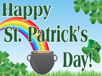 St. Patricks Day 3 Yard Sign Template