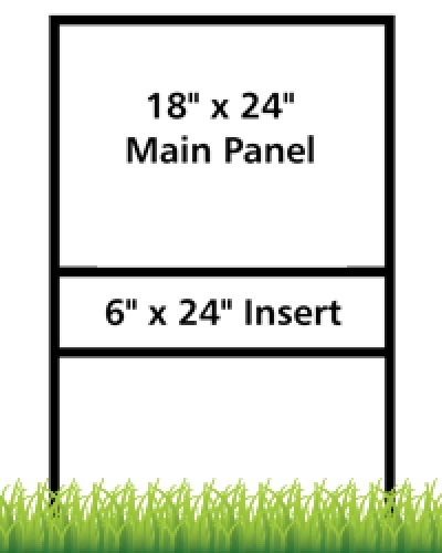 "18x24"" Panel with 6x24"" Insert Real Estate Frame"