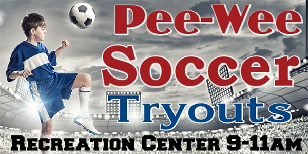 Soccer-05 Pee-wee Tryouts Banner Template