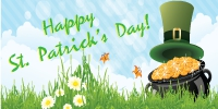St. Patrick's Day Custom Banner Template 02