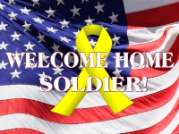 Military 08- Welcome Home Soldier Yard Sign