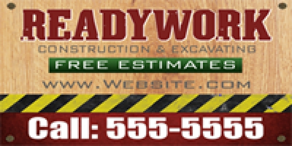 Tradesman 02- Construction & Excavating Banner Template