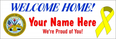 Military|2'x6'-02- US Army Welcome Home Banner