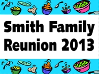 Reunion 03- Smith Family Yard Sign Template