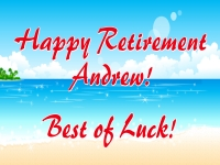 Retirement 03- Andrew Yard Sign Template