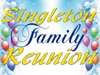 Reunion 01- Singleton Family Yard Sign Template