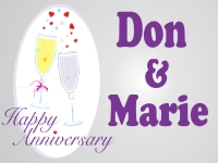 Wedding 03- Don & Marie Yard Sign