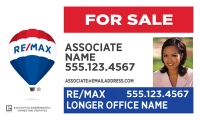 REMAX® Real Estate Horizontal 18h X 30w Office Prominent Panel w/Photo | Frame Included