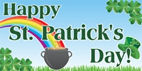 St. Patrick's Day Custom Banner Template 03