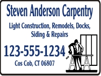 Tradesman 08-Anderson Carpentry Yard Sign