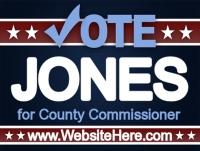 Political 02- Vote Jones Yard Sign Template